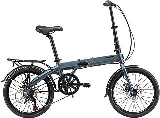 TopBl/ïng Barato Adulto Bicicleta Plegable,Marco De Aluminio Bicicleta De Ciudad con Una Canasta,Mujeres Folding Bike 20 Pulgadas Mini Velocidad /única Bike Estudiantes Bicicleta
