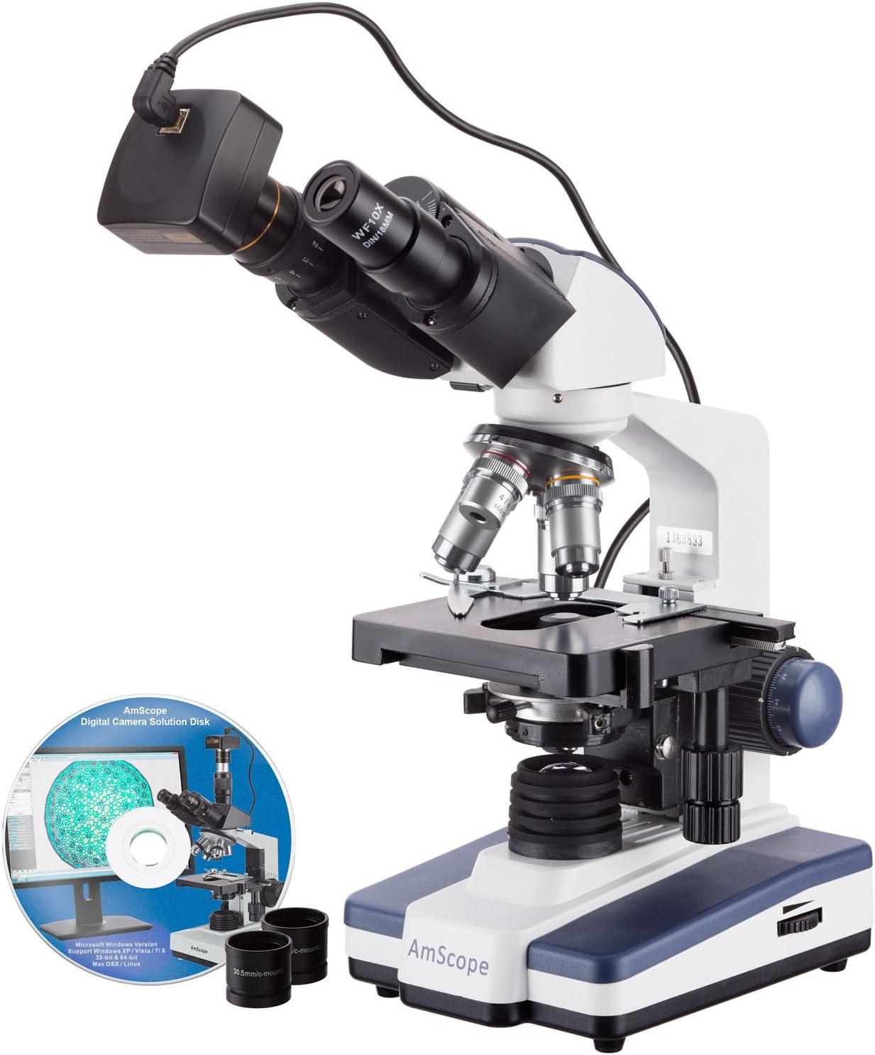 AmScope B120B-3M Digital Ranking TOP6 Siedentopf Compound Microscop Popular brand in the world Binocular