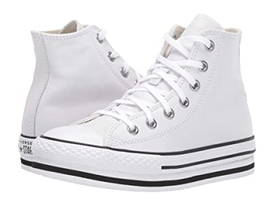 Converse Kids Chuck Taylor(r) All Star(r) Platform EVA (Little Kid/Big Kid) (White/White/Black) Kid