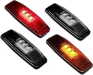 DNA Motoring FENDL-DRAM94-SM Full Kit Dually Bed Fender LED Side Marker Light
