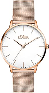 s.Oliver, orologio da polso da donna al quarzo, analogico, con cinturino