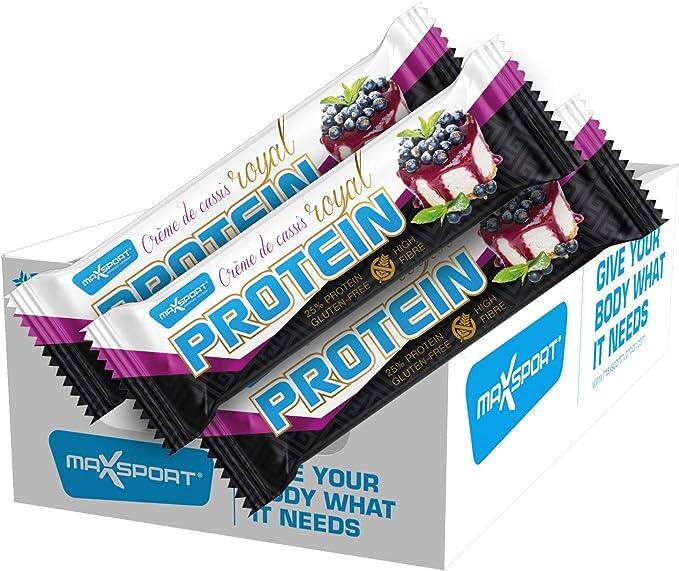 Caja de 24 unidades Barra de proteína Royal libre de gluten ...
