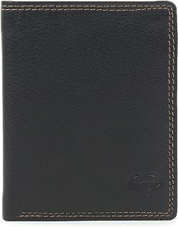 AlphaHide Men's RFID Blocking Wallet - Vertical Bifold Design - Slim Credit Card Case - Front Pocket Wallet