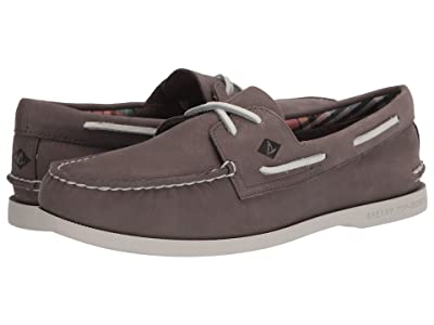 Sperry A/O 2-Eye Plushwave Washable (Grey) Men