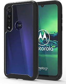 ShinyMax Moto G8 Plus Clear Case,Motorola G8 Plus Phone Case,Hybrid Triple Layer Armor Protective Cover Flexible Sturdy An...