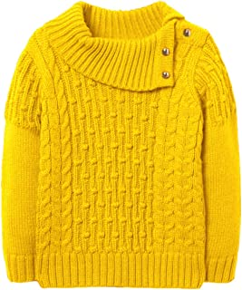 Chuanqi Girls Sweaters Winter Cute Cowl Neck Pullover Sweater Long Sleeve Cable Knit Tops