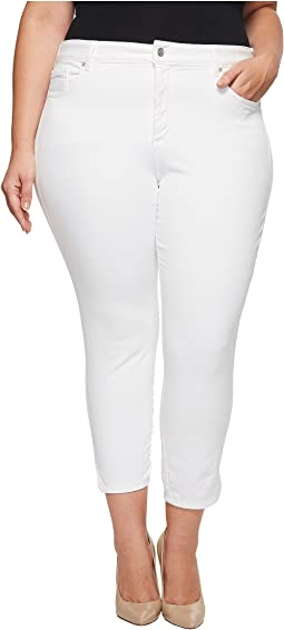 NYDJ Plus Size - Plus Size Ami Skinny Ankle w/ Slit Clean in Optic White