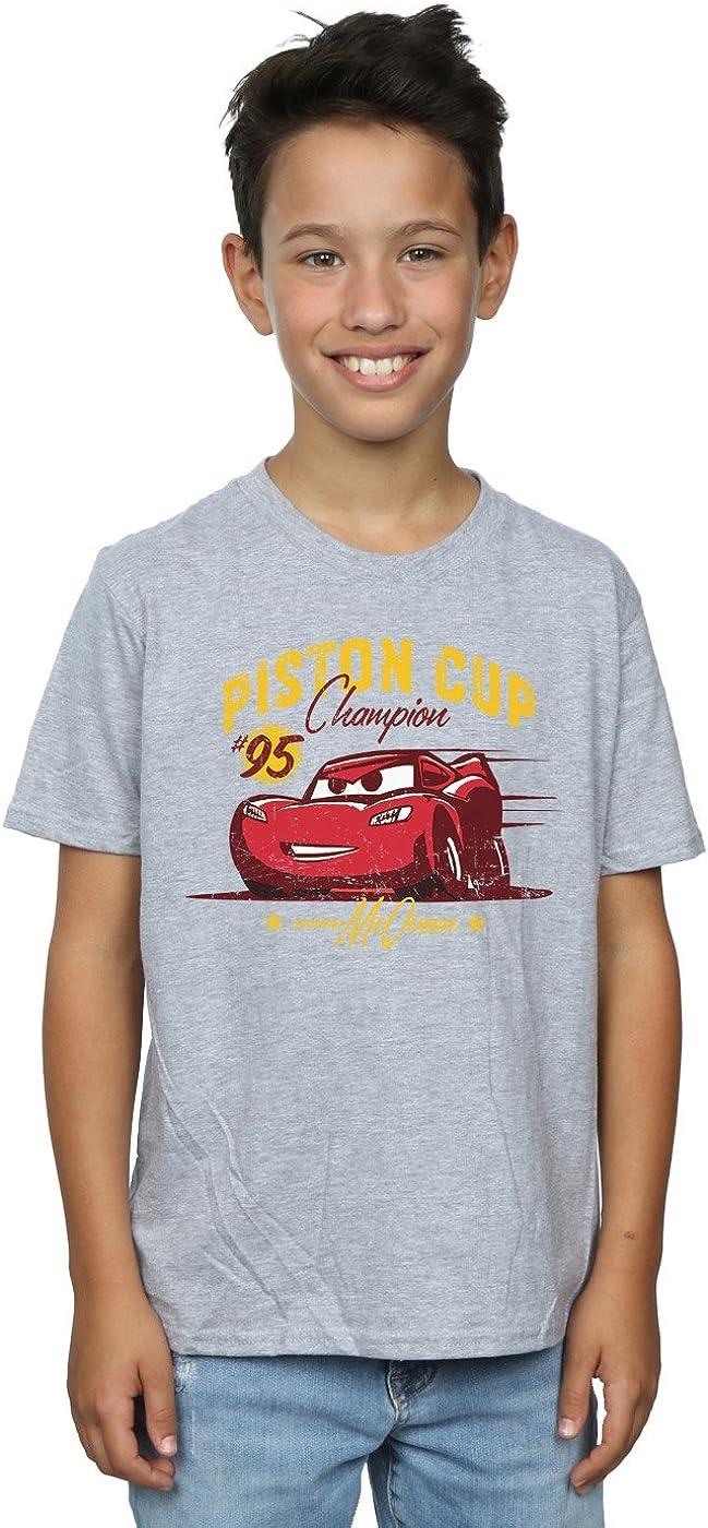 Disney Boys Cars Piston Cup Champion T-Shirt 7-8 Years Sport Grey
