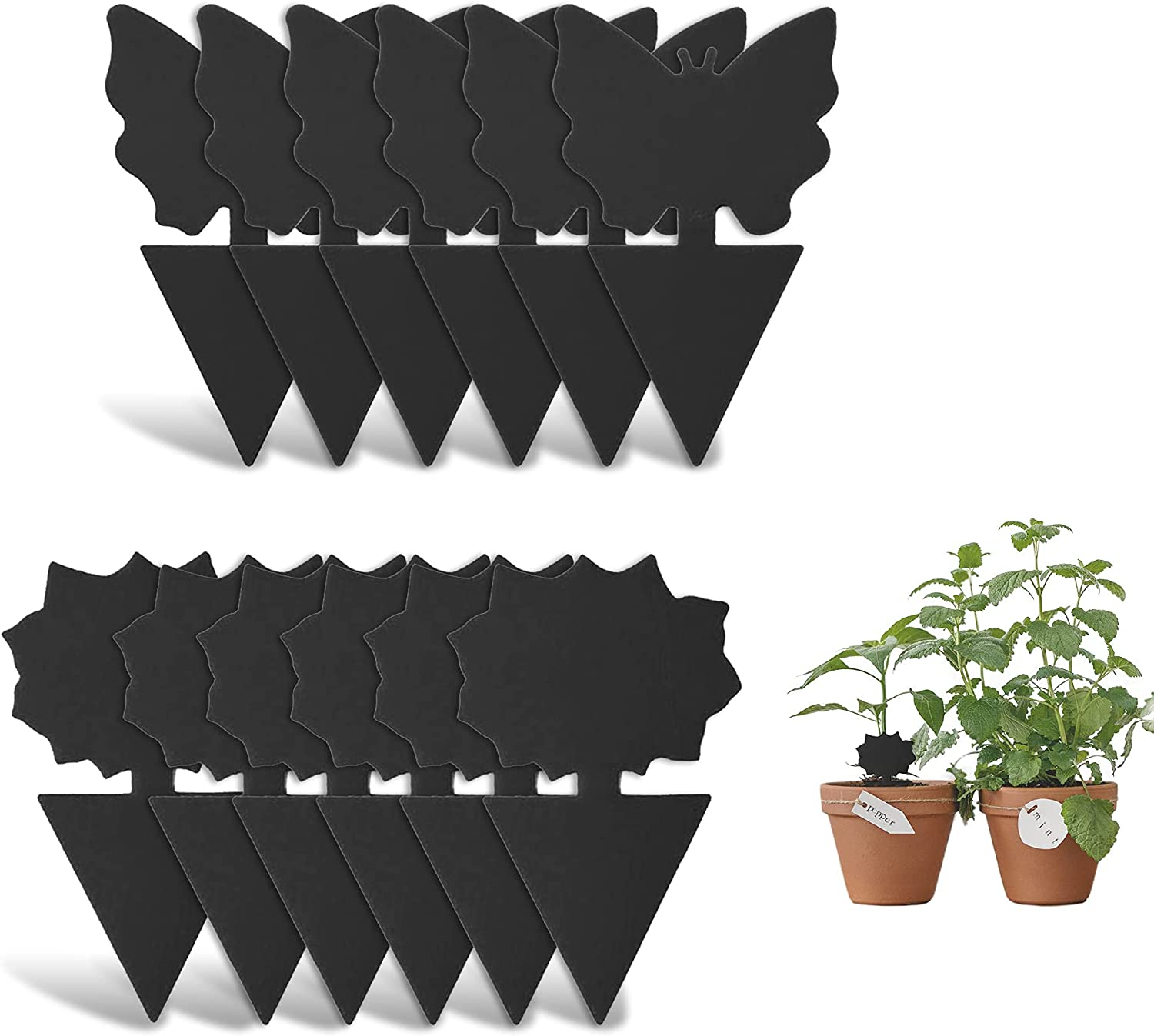 Read more about the article Sticky Fly Trap and Fungus Gnat Traps Killer for White Flies, Mosquitos, Fungus Gnats, Other Flying Insects, Kitchen Indoor and Outdoor Protect The Plant, Non-Toxic and Odorless (12-Black)