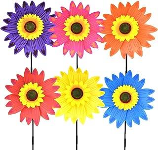 B bangcool Sunflower Lawn Pinwheels Wind Spinners Garden Party Pinwheel Wind Spinner for Patio Lawn & Garden (6 PCS))