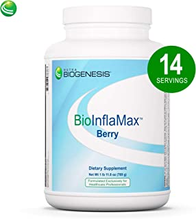 Nutra BioGenesis BioInflaMax Berry Powder - Pea, Chlorella & Rice Protein Plus Multivitamin/Minerals, White Willow Bark & Proteolytic Enzymes - Gluten Free - 1.7 Pounds