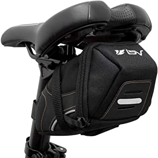 BV Bicycle Y-Series Strap-On Bike Saddle Bag/Bicycle Seat Pack Bag, Cycling Wedge with Multi-Size...
