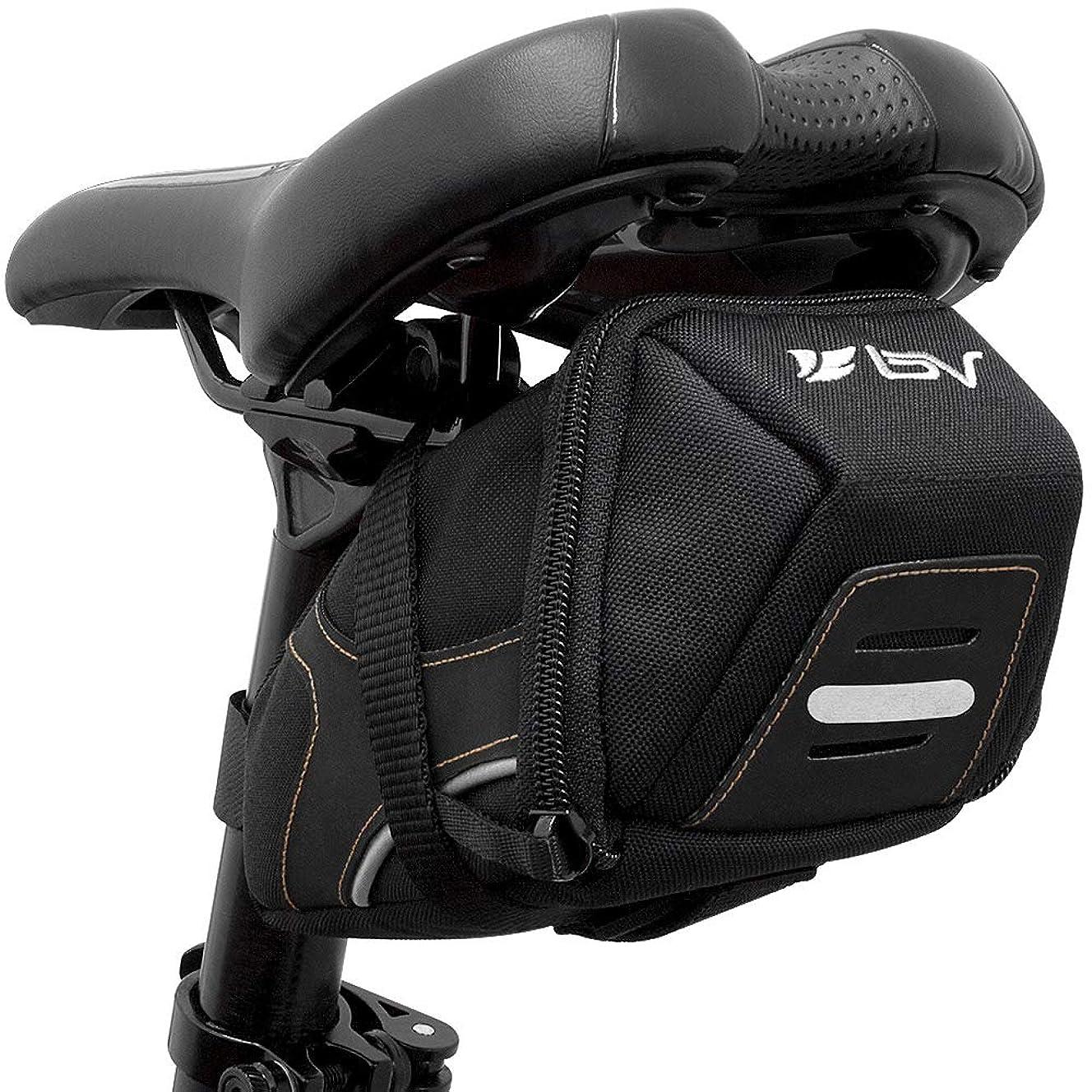 BV Bicycle Y-Series Strap-On Bike Saddle Bag/Bicycle Seat Pack Bag, Cycling Wedge Multi-Size Options