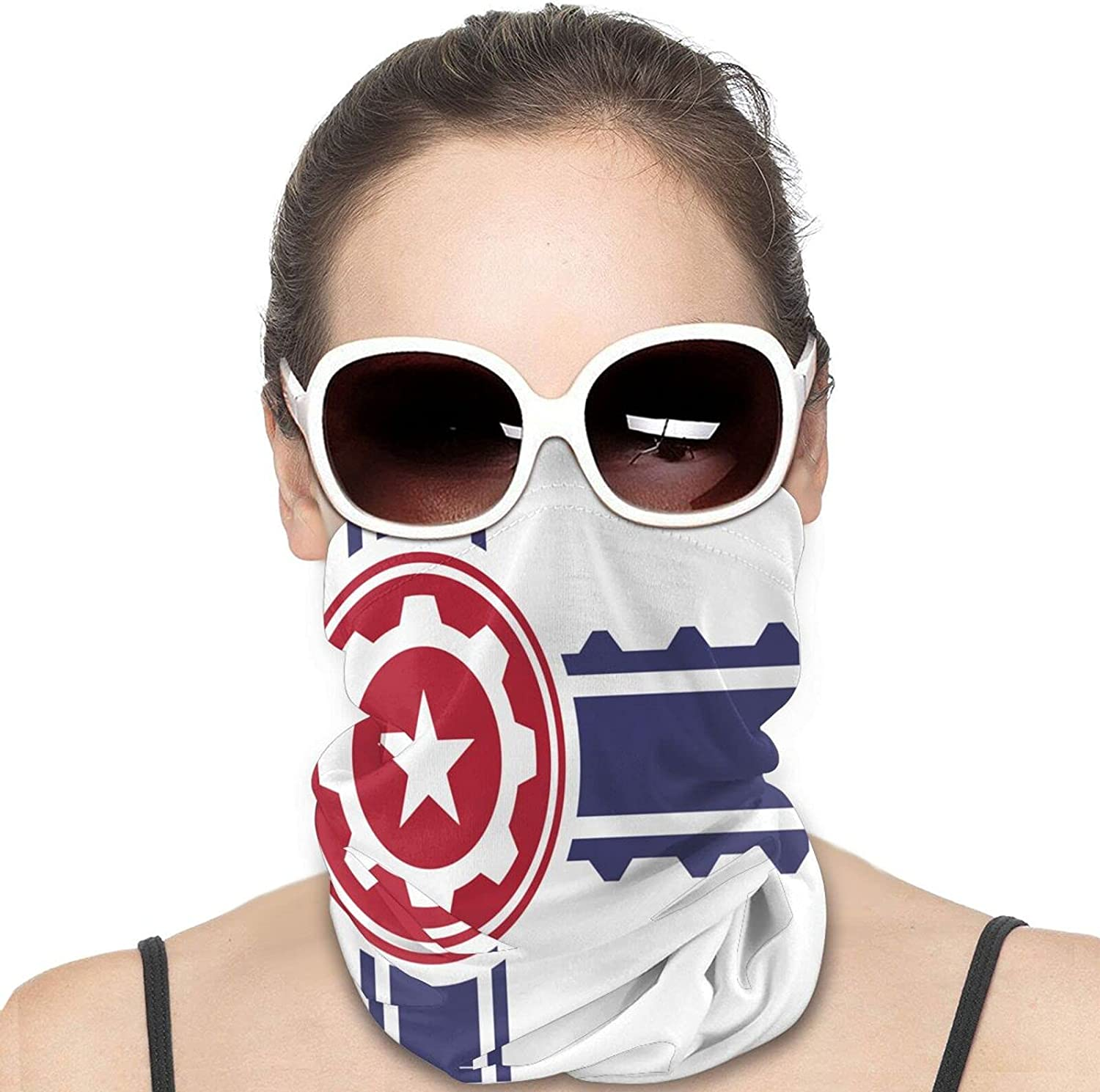 Flag For The USA Round Neck Gaiter Bandnas Face Cover Uv Protection Prevent bask in Ice Scarf Headbands Perfect for Motorcycle Cycling Running Festival Raves Outdoors
