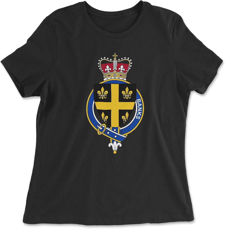 HARD EDGE DESIGN Women's English Garter Family Banks T-Shirt