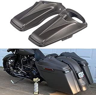 Us Stock Advanblack 8 inch Saddlebag Speaker Lids Covers Fit for Harley Touring Road Glide Street Glide Special Road King 2014-2019 (Industrial Gray Denim)