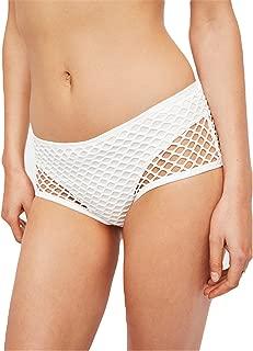 Plain Underwear Women Double Layer Mesh See Through Briefs Sexy White Panty