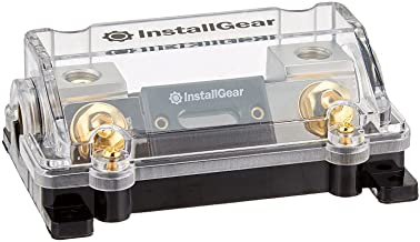 InstallGear 0/2/4 Gauge AWG in-Line ANL Fuse Holder with 250 Amp Fuse