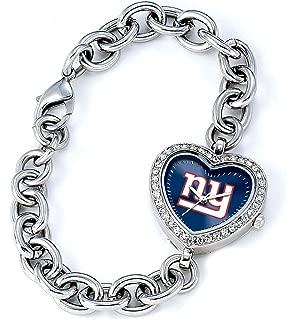 NFL Women's NFL-HEA-NYG Heart Collection New York Giants Watch