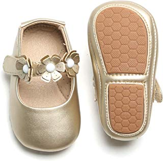 Otter MOMO Baby Girl Shoes (2-2.5 Years M US Toddler, D7706-Gold)