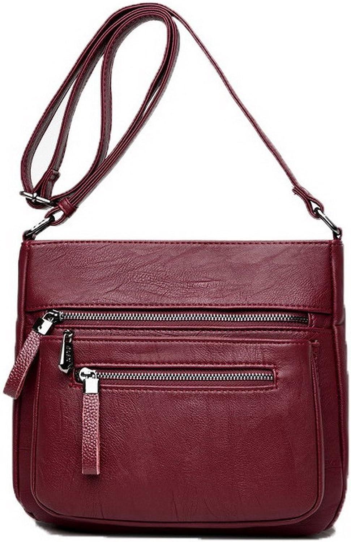 WeenFashion Women's Zippers Pu Fashion Bags Casual Crossbody Bags,AMGBX180894