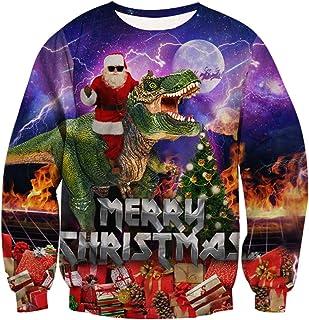 15d4ce79c Goodstoworld Unisex Christmas Jumper 3D Navidad Ropa Divertida Elfo Impreso  Jerseys Traje de Navideño S-