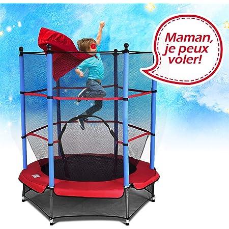 Charge Maximale 120KG Filet de S/écurit/é GOPLUS Trampoline Int/érieur//Ext/érieur pour Enfants Adultes avec /Échelle Tapis de Saut et Poteaux Recouverts pour Fitness