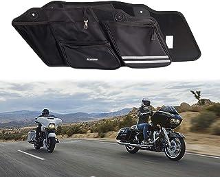 Per Harley Touring Road King Road Ultra Electra Glide 1994-2013 Nero Lucido ABS Moto Doppio Taglio Duro Sella Estensione