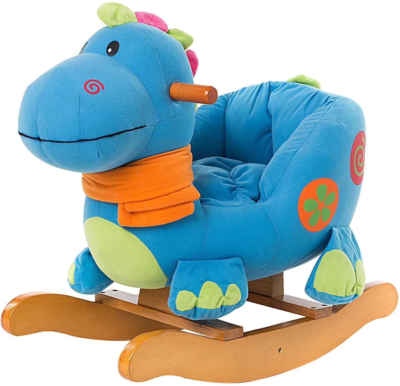 Labebe Caballito Balancin Bebé, Caballito Madera De Dinosaurio Azul para Niño De 1-3 Años, Turnraise Balancin/Caballo Balancin Bebé/Caballito Balancin Madera/Columpio Balancin Bebé…: Amazon.es: Juguetes y juegos