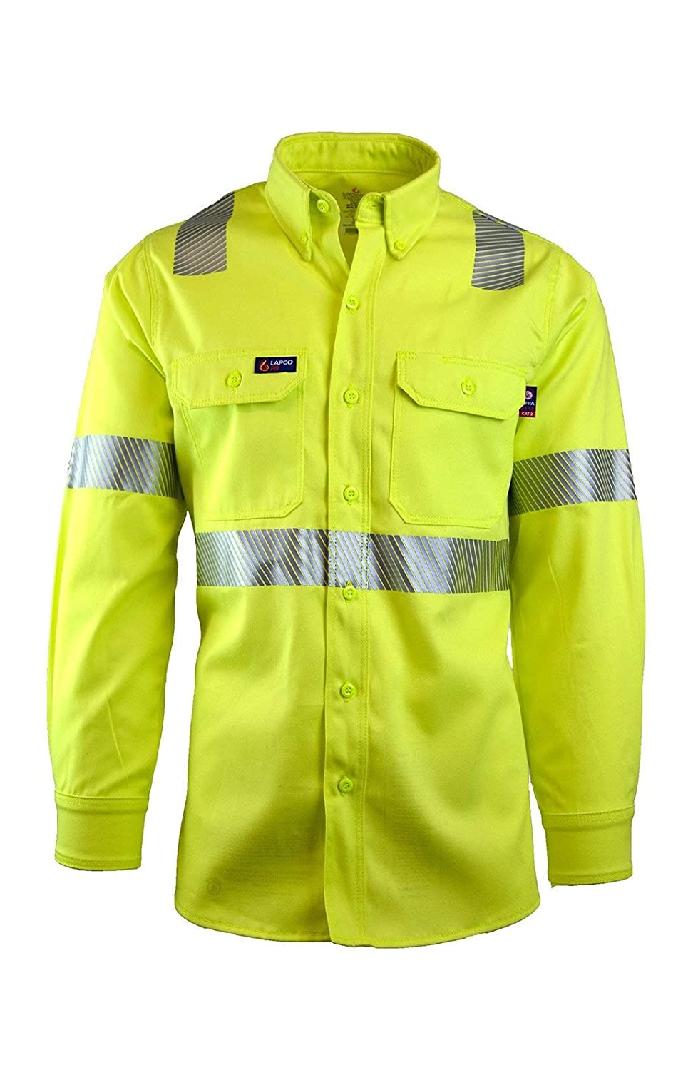Lapco FR IHV7C3 5XL Free shipping anywhere in the nation REG Max 70% OFF 100% Vol Capacity Shirt Cotton Uniform