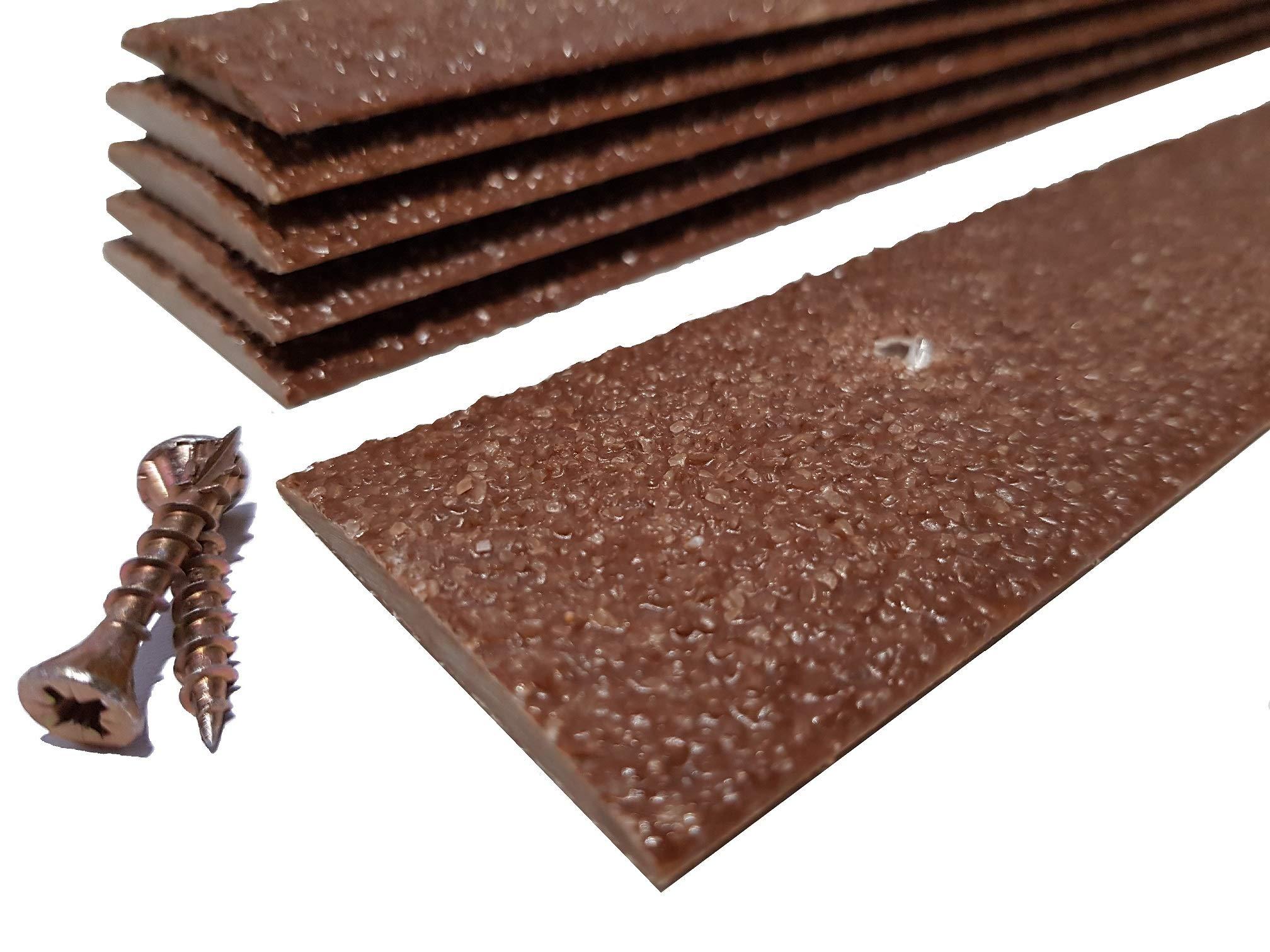 600mm long 30 Convex Anti Slip Deck Strips Non Slip Grip for Steps /& Decking