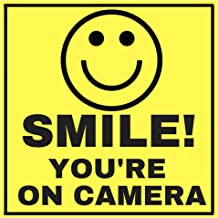 6 Smile Youre ON Camera Indoor Outdoor Stickers Decals - 3