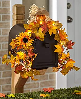Ltd. Seasonal Solar Mailbox Swag, Scarecrow