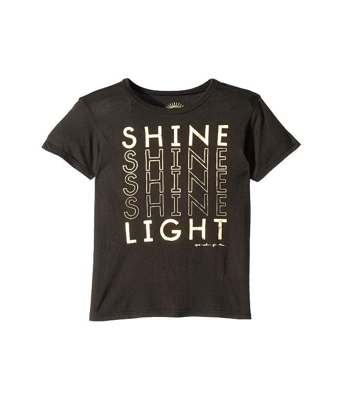 Spiritual Gangster Kids Shine Tee (Little Kids/Big Kids) (Vintage Black) Girl's T Shirt