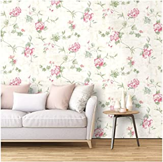 HaokHome 632664-3M Victoria Floral Wallpaper Peel and Stick Wall Murals 17.7