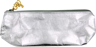 Metallic Silver Washable Paper Glasses Case, 7 Inch