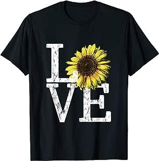 Sunflower Love Shirt Vintage Hippie Flower Nurse Mom Gift
