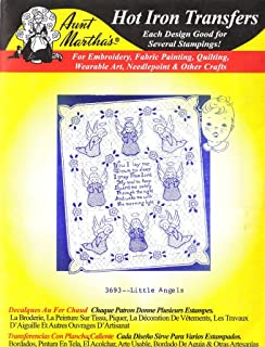 Little Angels Aunt Martha's Hot Iron Embroidery Transfer