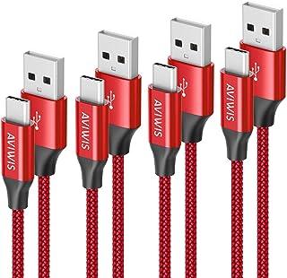 comprar comparacion AVIWIS Cable USB Tipo C  0.3M 1M 2M 3M Cable USB C Nylon Carga Rápida y Sincronización Compatible con Galaxy S10/S...