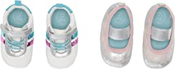Womens Ro + Me Sequin Athletic/Glitter MJ 2-Pack (Infant/Toddler)