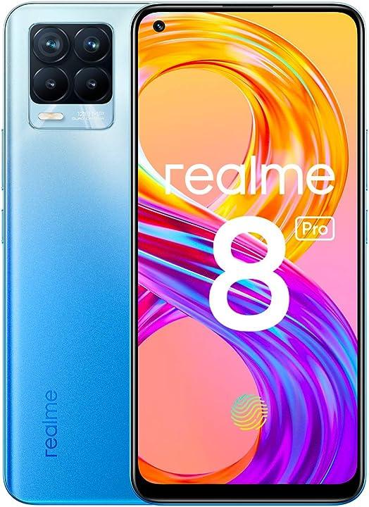 Realme 8 pro smartphone ultra quad camera da 108 mp display super amoled da 16 3 cm (6 4