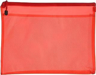 Apple 757A H101 Plastic Zipper File, B4 Size - Red