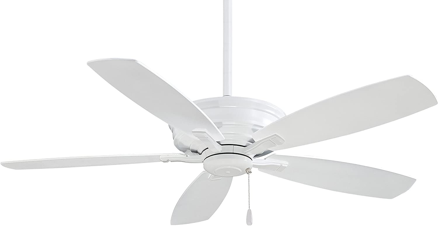 Minka-Aire New popularity F695-WH Downrod Mount 5 White Blades Ceiling fan Wh Fashionable
