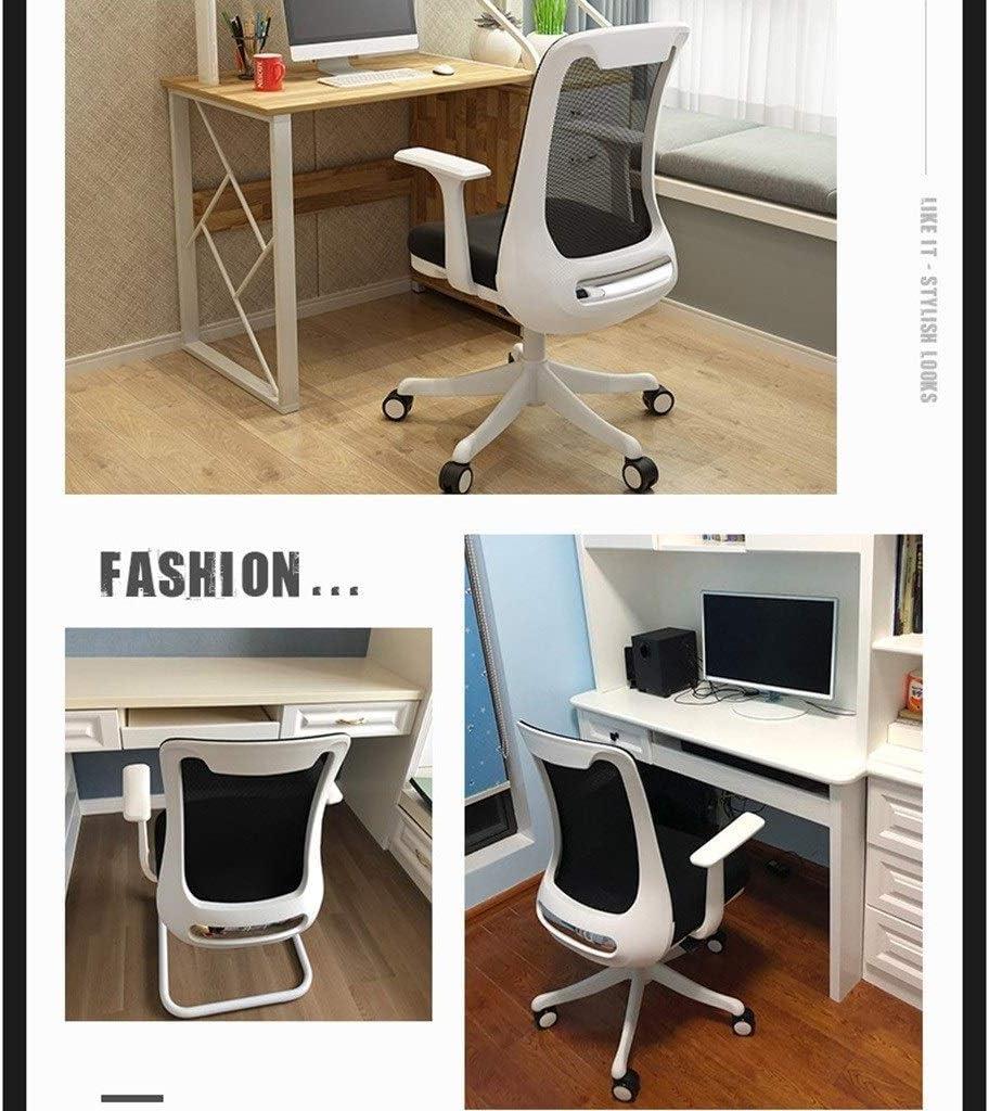qazxsw Chaise de Bureau à Domicile Arc siège d'étude dortoir étudiant Chaise d'écriture siège Domestique Chaise d'ordinateur Tabouret d'ordinateur Noir