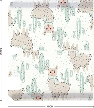 Cactus and Lovely Alpaca Mailbox Covers Sticker Mail Post Box Decor Decal 45x52cm