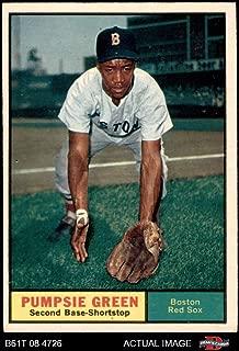 1961 Topps # 454 Pumpsie Green Boston Red Sox (Baseball Card) Dean's Cards 5 - EX Red Sox