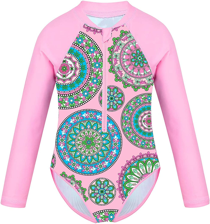Choomomo Max 67% OFF Baby Max 81% OFF Girls Kids Long Rash Sleeve Guard Zipper Swimsuit