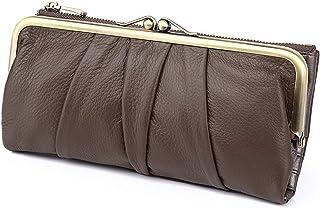 Ladies Wallet Genuine Leather Women Wallet Long Clip Women Purse Clutch Brand Designer Cow Leather Ladies Wallet Female Ph...