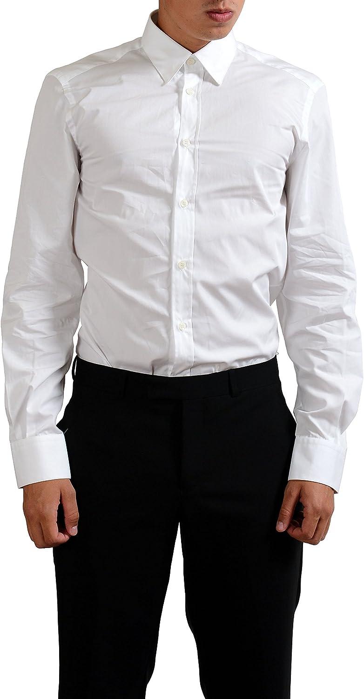 Versace Collection White Men's Long Sleeve Dress Shirt US 15 1/4 IT 40