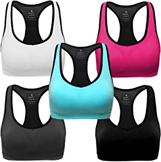MIRITY Women Racerback Sports Bras - High Impact Workout...